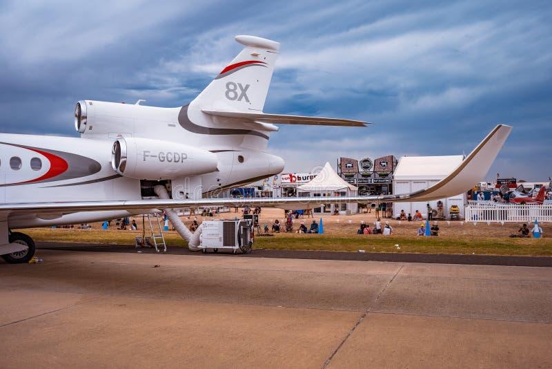 Avalon, Melbourne, Australia - 3 de marzo de 2019: Jet privado del halcón 8X de Dassault imagen de archivo