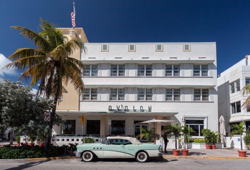 Avalon Miami Hotelowa plaża Floryda zdjęcia royalty free