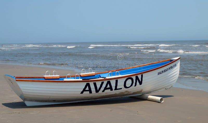 Avalon plaży łódź patrolowa obraz royalty free