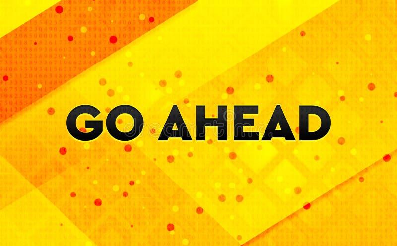 Avançar fundo digital de banner amarelo abstrato ilustração do vetor