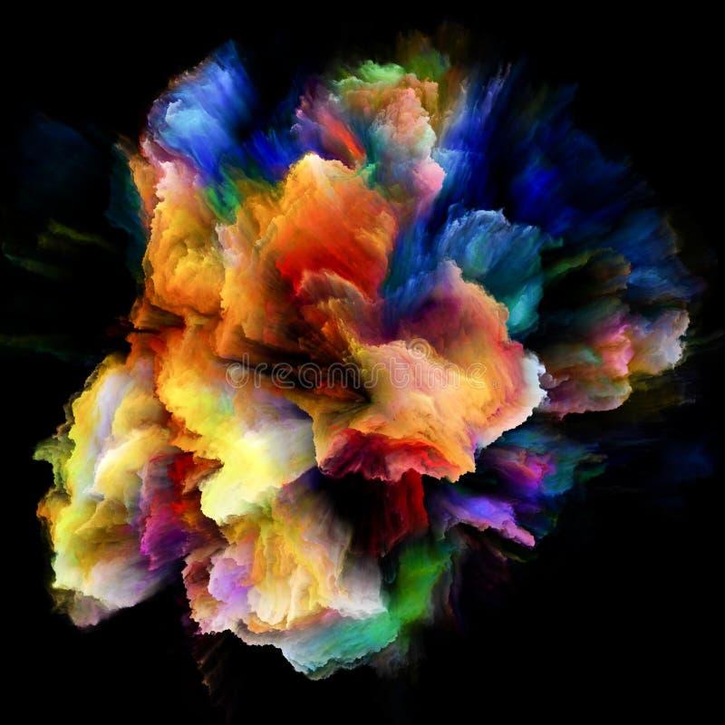 Avanço da explosão colorida do respingo da pintura ilustração stock