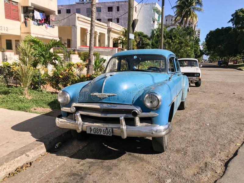 Avana automobilistica classica, Cuba fotografia stock libera da diritti