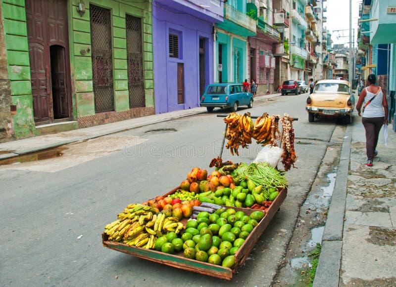 AVANA, CUBA - 9 AGOSTO 2016: Supporto privato i dell'alimento della vicinanza immagine stock libera da diritti