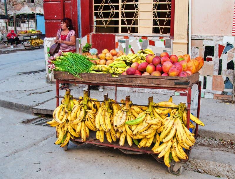 AVANA, CUBA - 11 LUGLIO 2016: Supporto privato dell'alimento della vicinanza dentro fotografie stock libere da diritti
