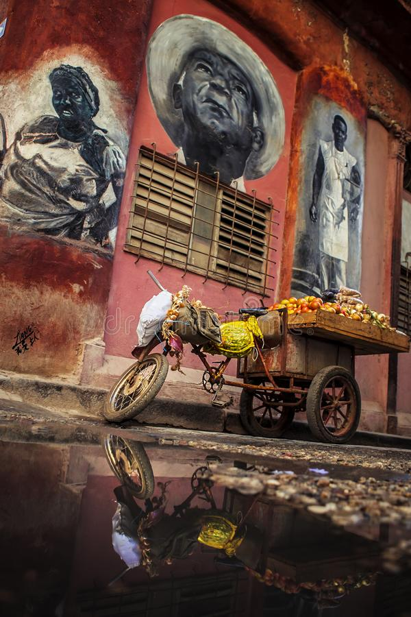 Avana, una città artistica fotografia stock