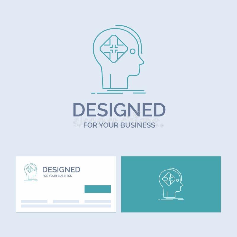 Avancé, cyber, avenir, humain, affaires Logo Line Icon Symbol d'esprit pour vos affaires Cartes de visite professionnelle de visi illustration libre de droits