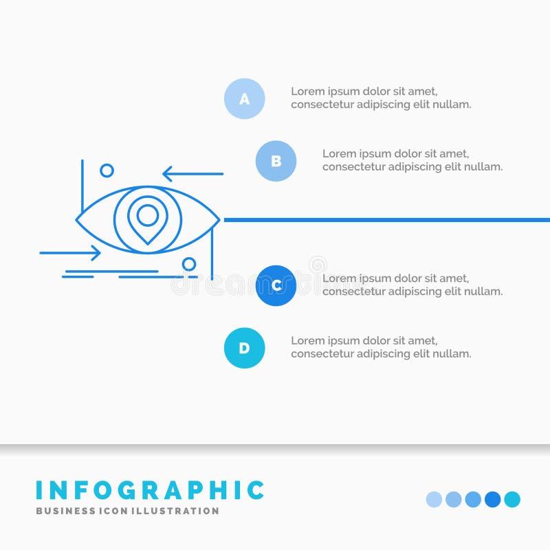 Avancé, futur, GEN, science, technologie, calibre d'Infographics d'oeil pour le site Web et présentation Ligne ic?ne bleue infogr illustration de vecteur