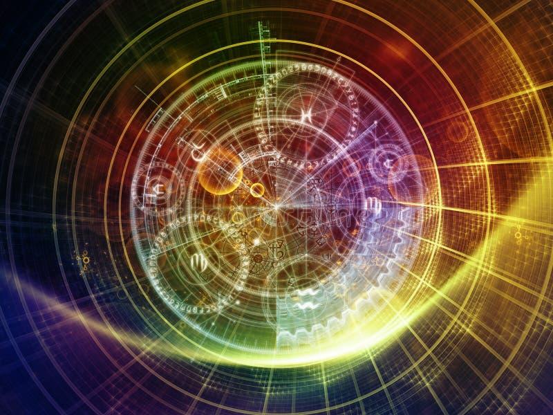 Avance de la geometría sagrada stock de ilustración