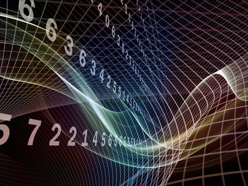 Avance de los reinos del fractal ilustración del vector