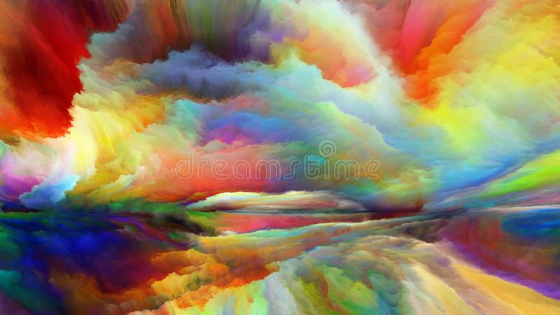 Avance de paysage abstrait illustration de vecteur