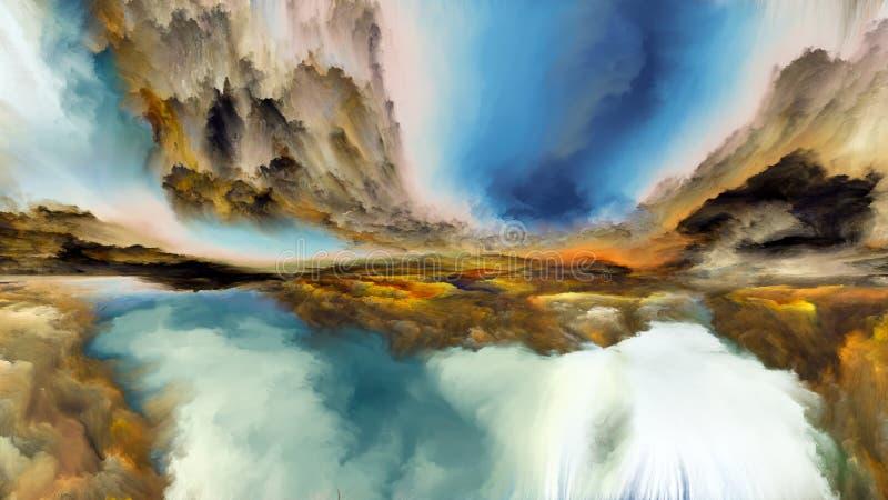 Avance de paysage abstrait illustration stock