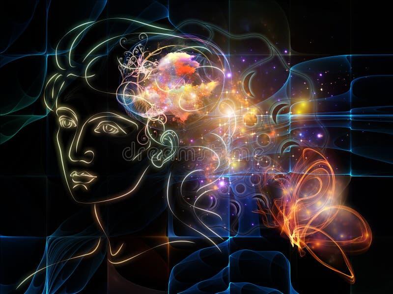 Avance des pensées intérieures illustration de vecteur