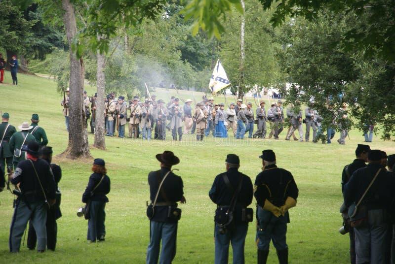 Avancement de fléau d'infanterie des syndicats photos stock