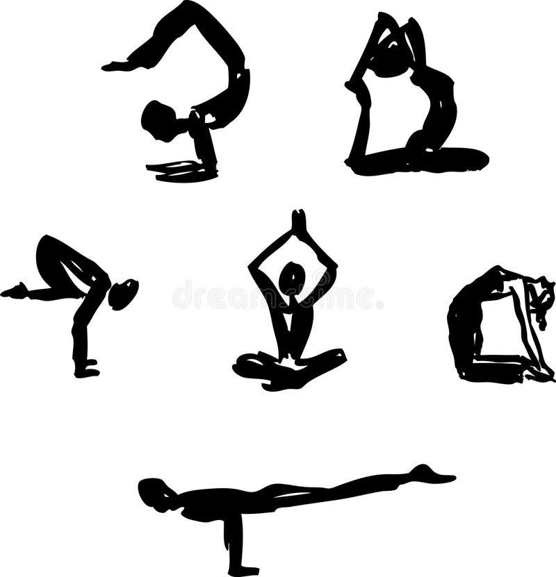 Avancerad yoga poserar royaltyfri bild