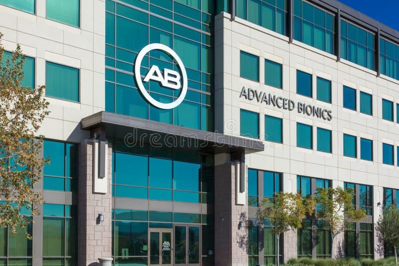 Avancerade Bionicshögkvarter och logo fotografering för bildbyråer