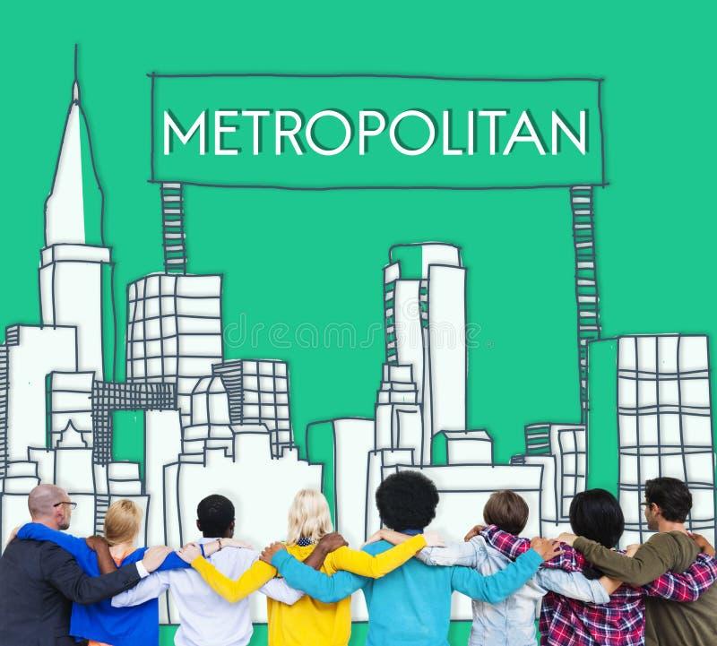 Avancerat begrepp för storstads- demokrati för stad stads- royaltyfri bild