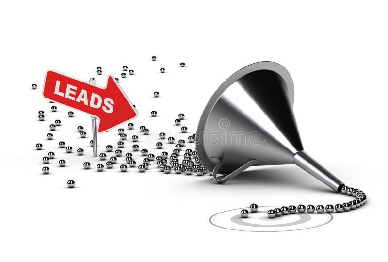 Avances de qualification de ventes, ventes qualifiées illustration stock