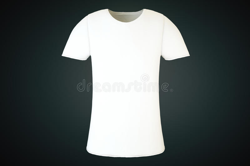 Avant blanc vide de T-shirt illustration stock