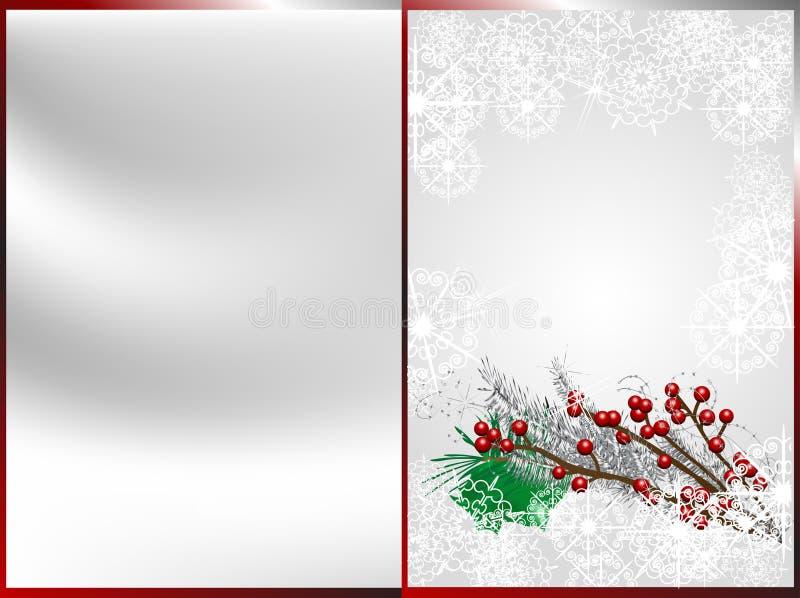 avant central d'orientation de Noël DOF de baies peu profond illustration de vecteur