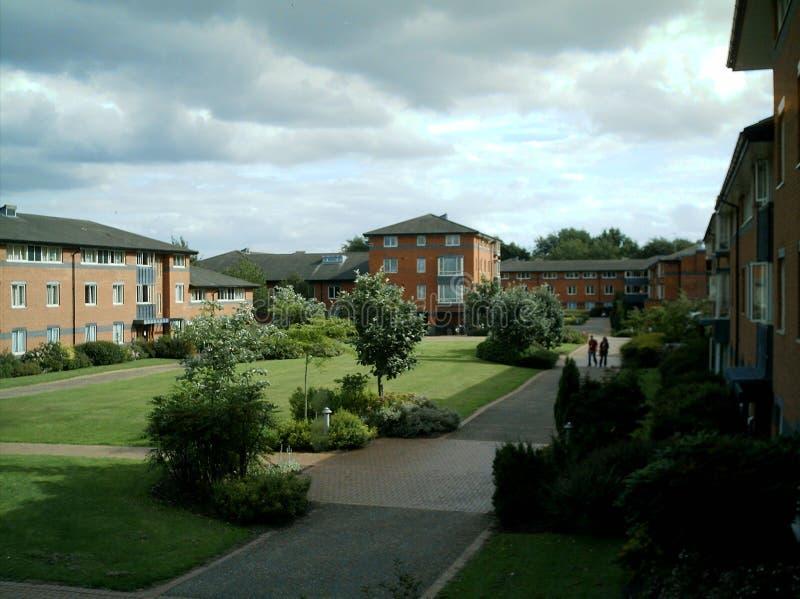 Avant-cour de Claycroft, Warwick University, R-U photographie stock libre de droits