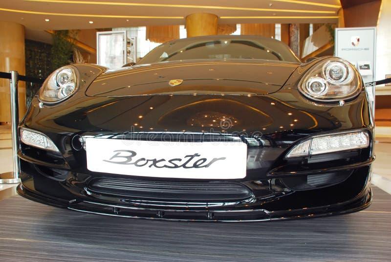 Avant d'édition de noir de boxster de Porsche photographie stock libre de droits