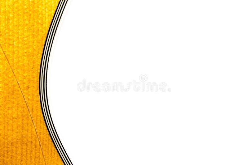 Avant de corps de guitare sur le fond blanc image stock