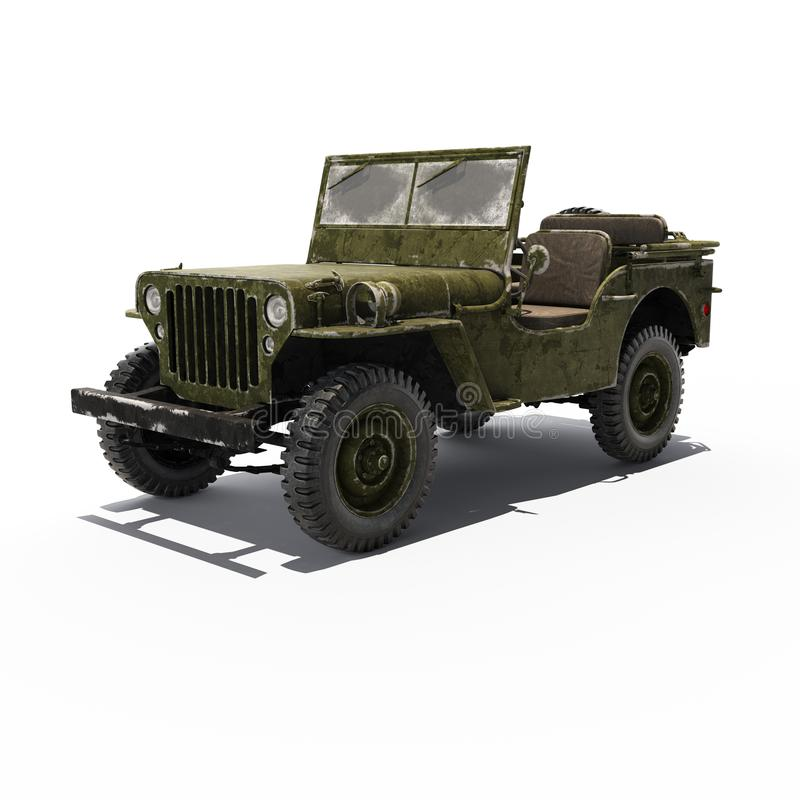 Avant de Jeep Willys photos stock