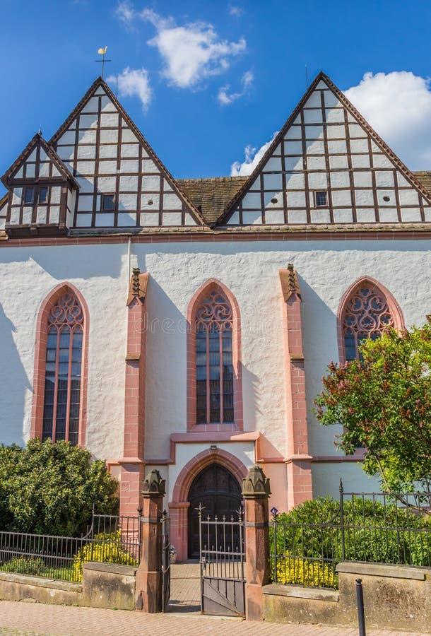 Avant de l'église de monastère en Blomberg images libres de droits
