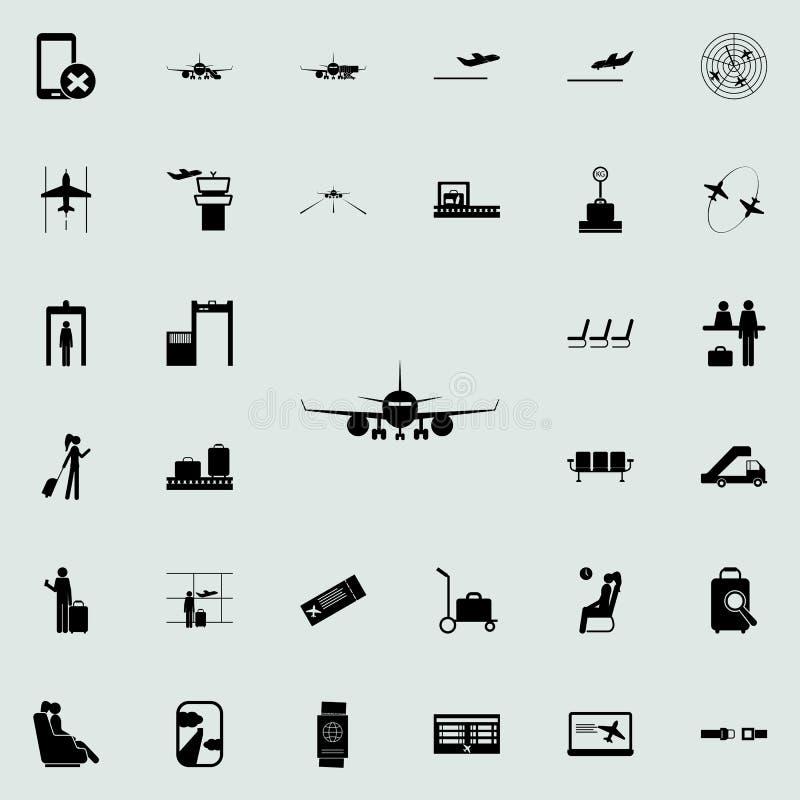 avant de l'icône plate Ensemble universel d'icônes d'aéroport pour le Web et le mobile illustration de vecteur