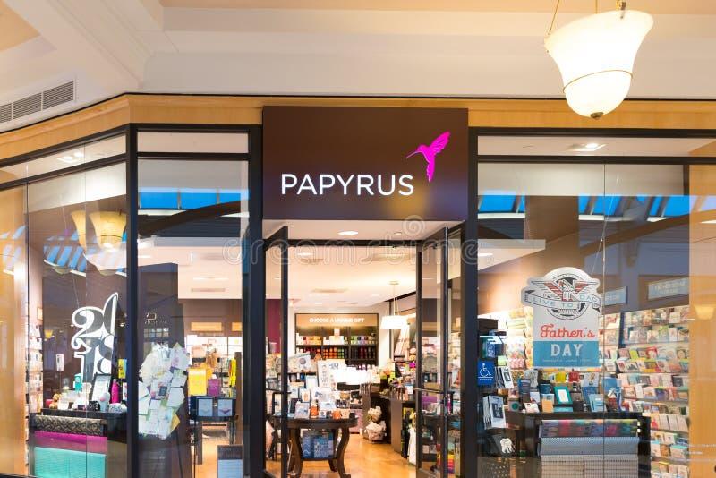 Avant de magasin de PAPYRUS photo stock