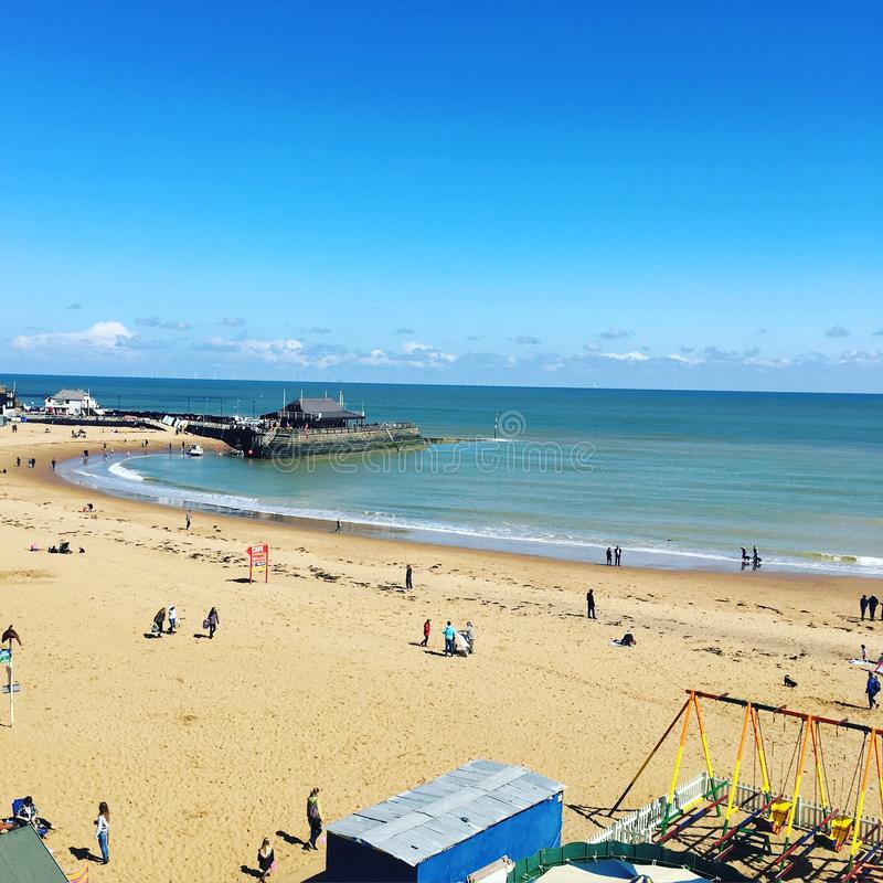 avant de plage de broadstairs photo libre de droits