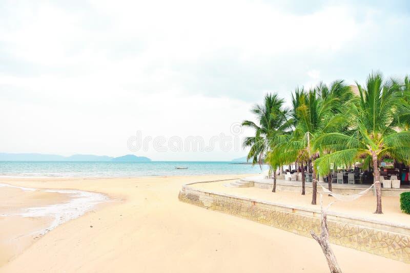 Avant de plage, vue d'océan photo stock