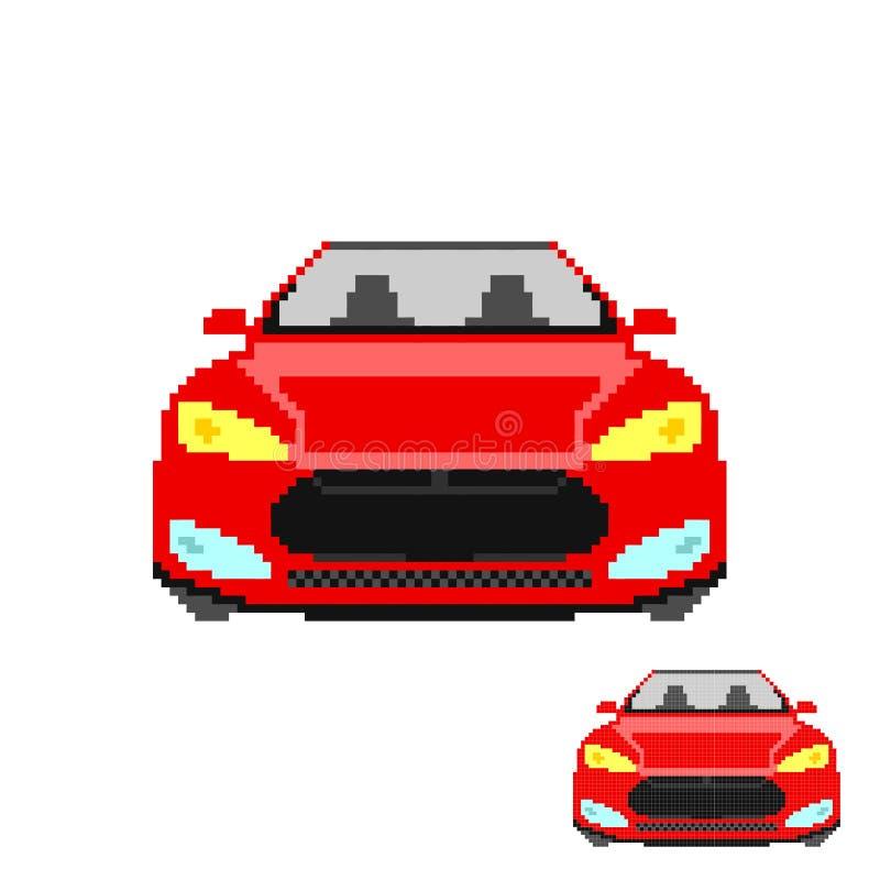 Avant de voiture d'art de pixel de vecteur d'isolement illustration libre de droits