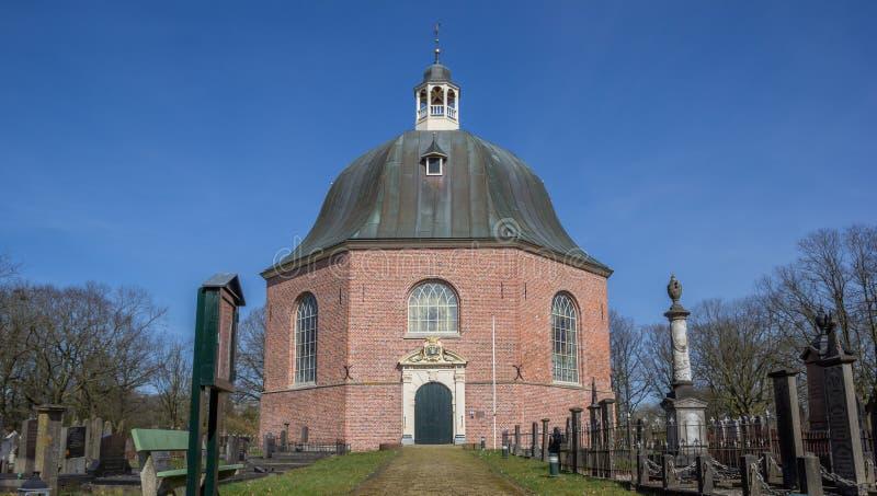 Avant du Koepelkerk dans Sappemeer photo libre de droits