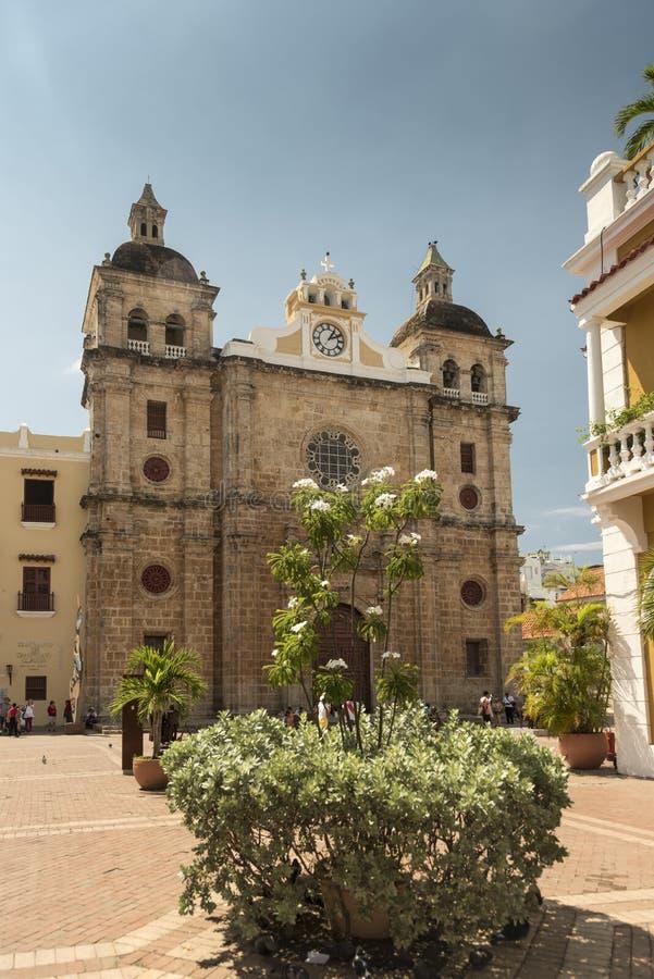 Avant du Parroquia San Pedro Claver Cartagena photos stock