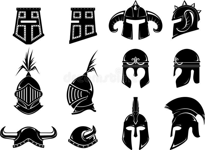 Avant et côté médiévaux de barre illustration libre de droits