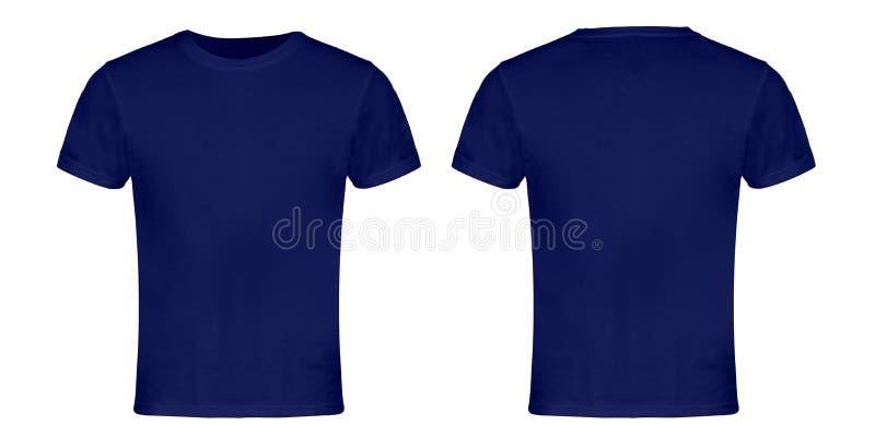 Avant et dos vides bleus de T-shirt image stock