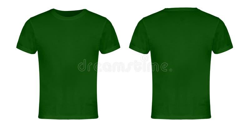 Avant et dos vides verts de T-shirt photos stock