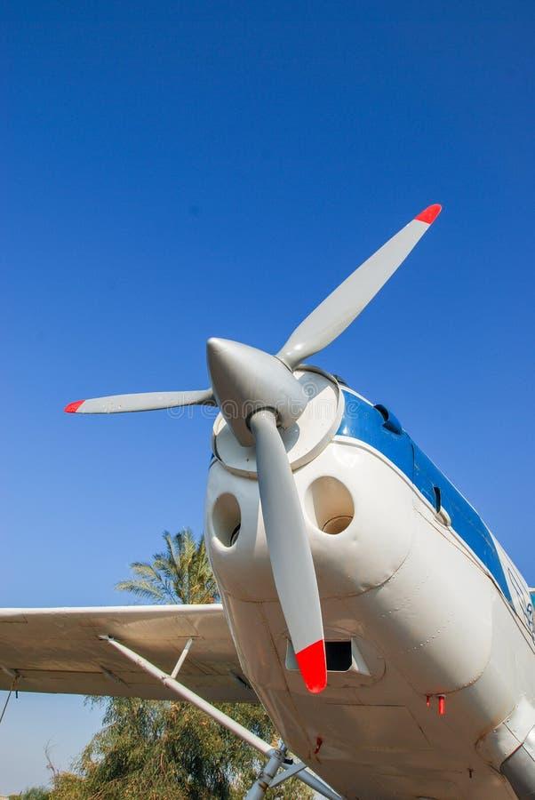 Avant et propulseur d'avion de Pilatus PC-6A de cru images stock