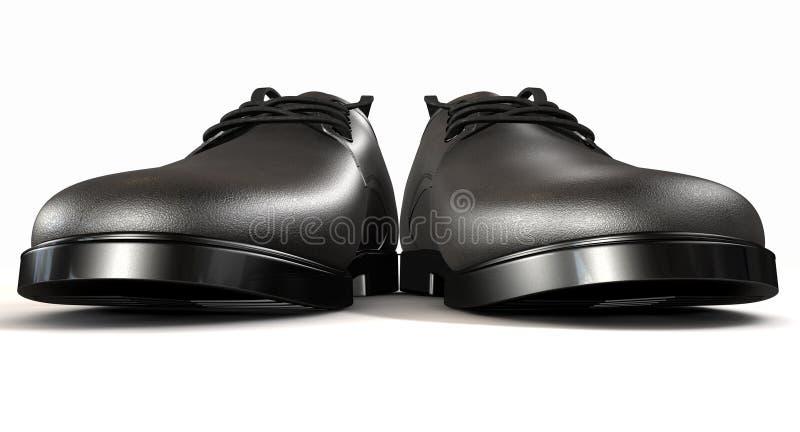 Avant extrême noir formel de chaussures en cuir illustration libre de droits