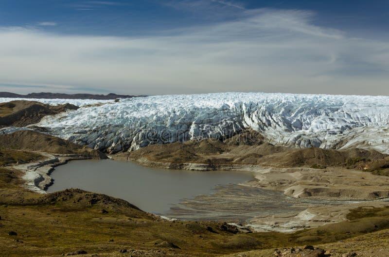 Avant Greenlandic de glacier de calotte glaciaire près du point 660, Kangerlussuaq, Groenland images stock