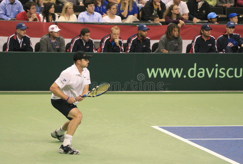 Avant-main d'Andy Roddick, tennis image libre de droits