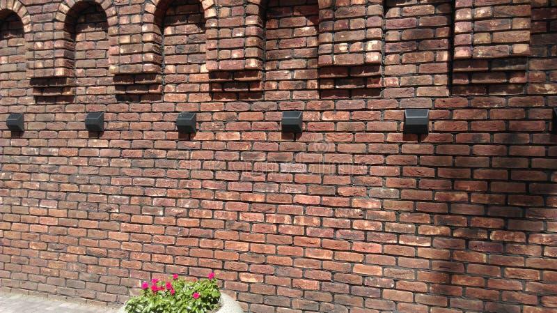 Avant-poste du sud de forteresse de la Russie de St Anna du mur de forteresse de brique rouge images libres de droits