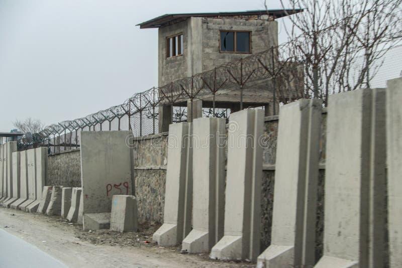 Avant-poste militaire de l'Afghanistan images libres de droits