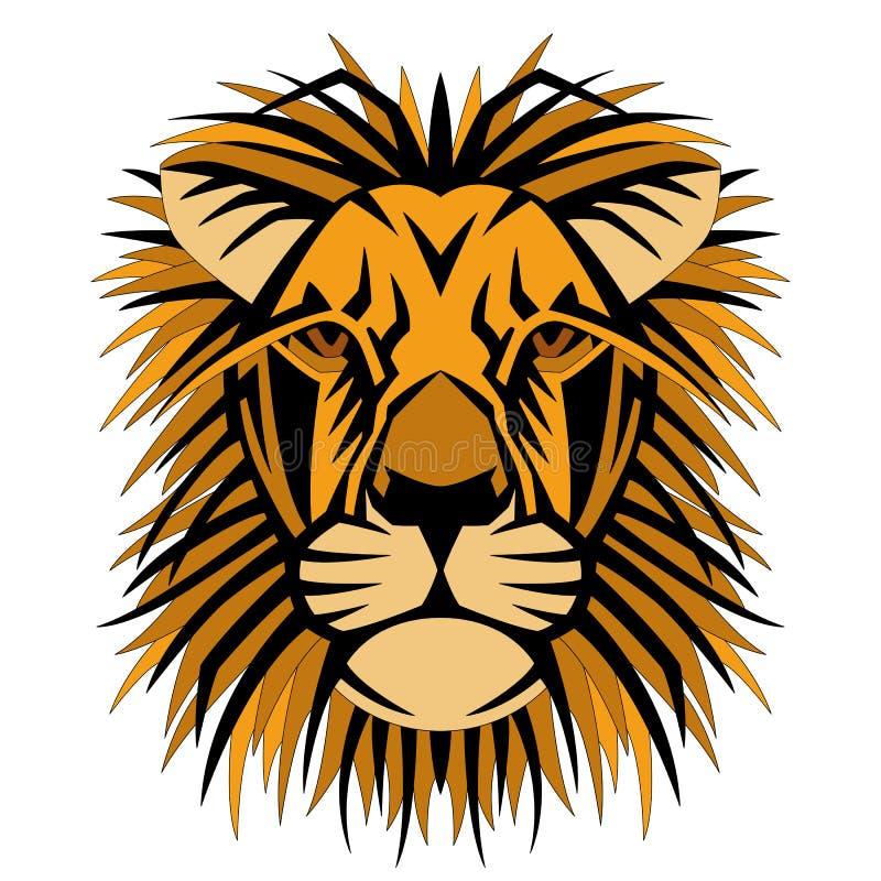 Download Avant Principal De Côté De Style De Vecteur De Visage De Lion Illustration de Vecteur - Illustration du furieux, lion: 77150866