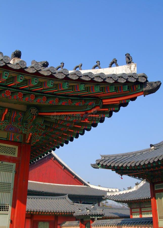 Avant-toits de temple chinois image libre de droits