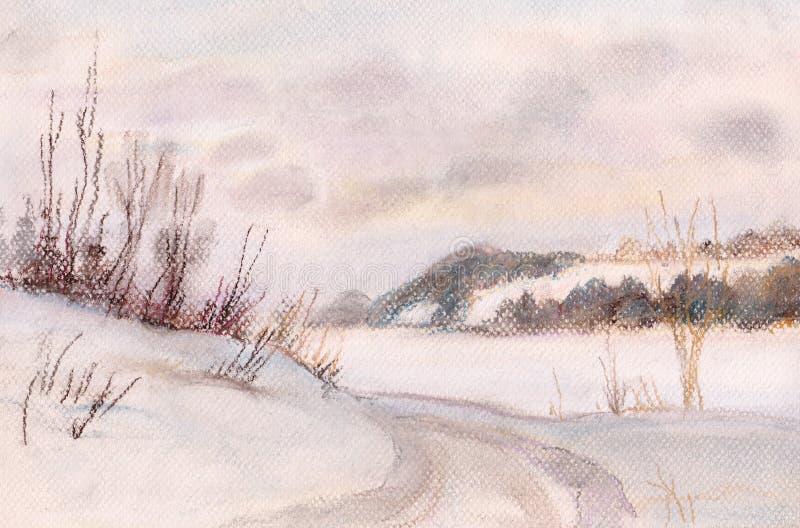 Avant un coucher du soleil illustration stock
