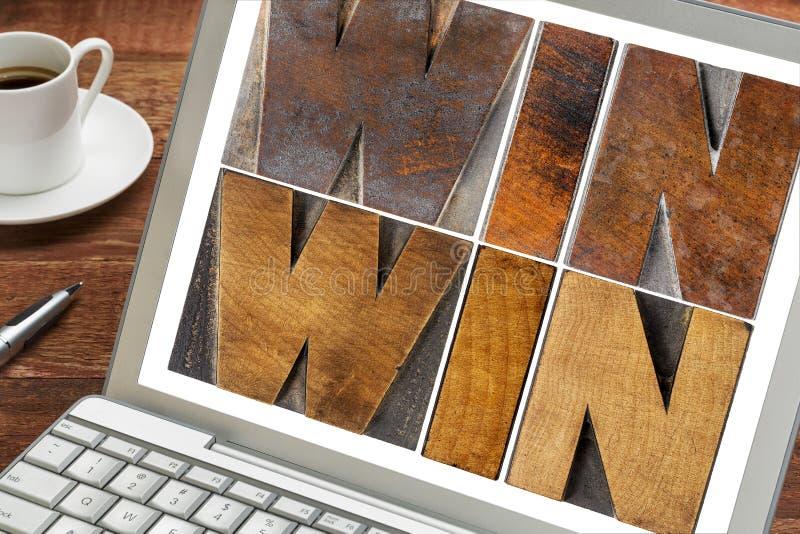 Avantageux pour les deux parties dans le type en bois photo libre de droits