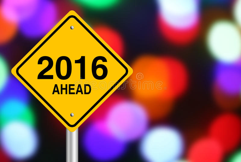 2016 avanti immagine stock