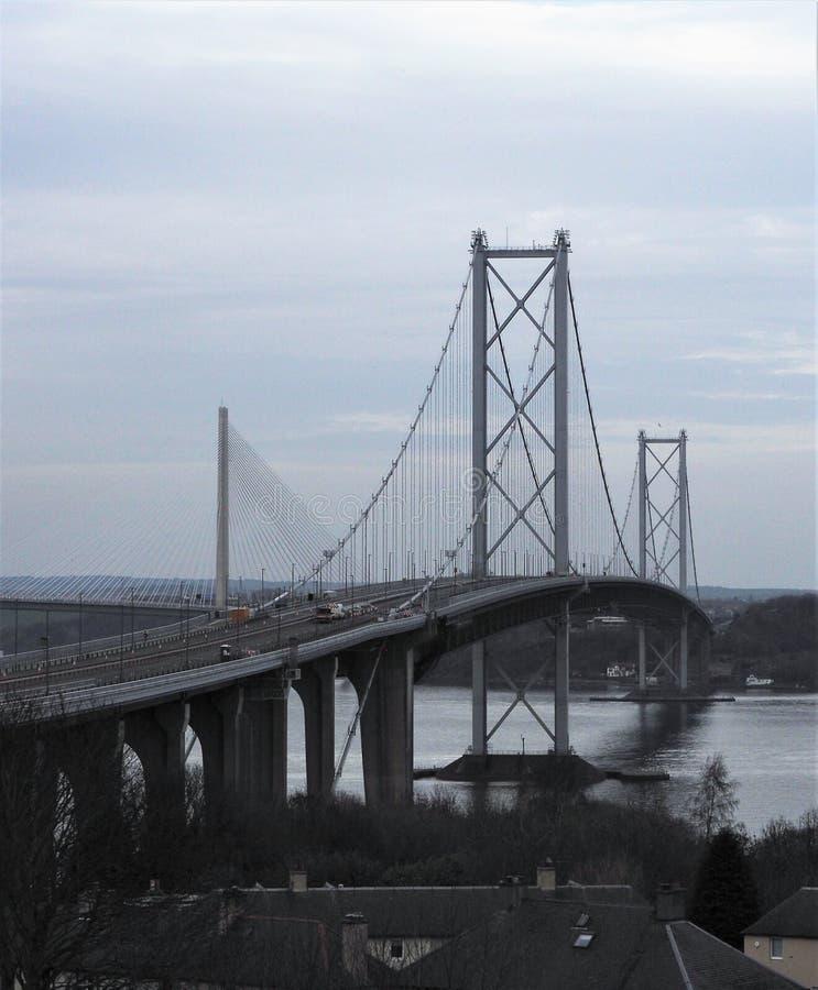 Avanti il ponte Scozia della strada fotografia stock